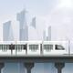 Realistic Light Rail Composition