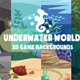 Underwater World Backgrounds - GraphicRiver Item for Sale