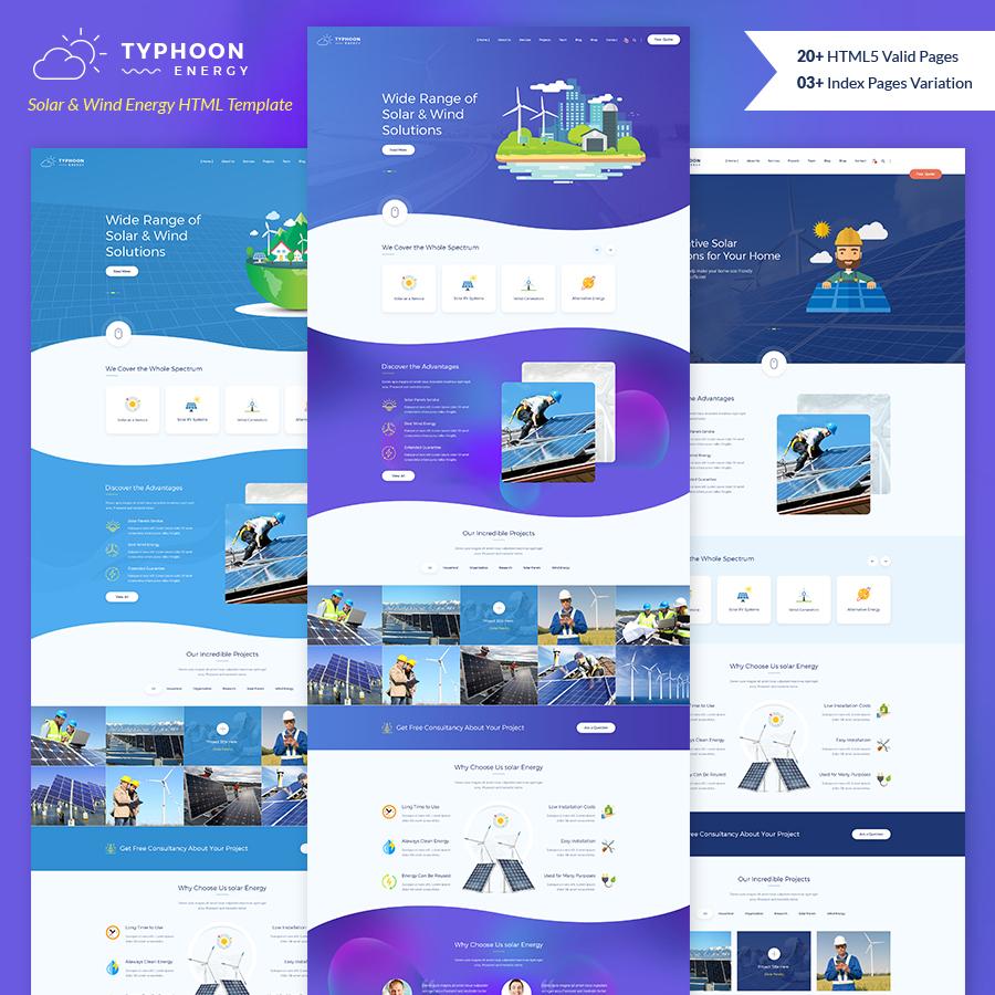 Typhoon - Solar & wind Energy HTML Template - 11