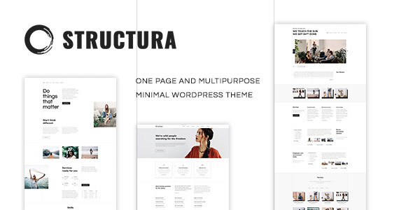 Structura - One Page And Multipurpose Minimal Theme | One page & Minimal