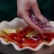 The Cook Makes Meal with Red Onion and Other Vegetables - VideoHive Item for Sale