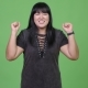 Happy Overweight Asian Woman Looking Excited - VideoHive Item for Sale