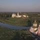Aerial View of Architectural Ensemble of Suzdal Kremlin with Cathedral of the Nativity of the Virgin - VideoHive Item for Sale