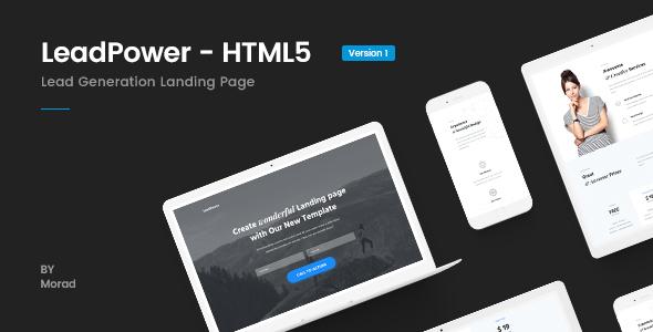 LeadPower - Lead Generation HTML5 Landing Page Template