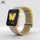 Apple Watch Series 2 38mm Gold Aluminum Case Yellow Light Gray Woven Nylon
