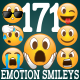 171 Emotion Smileys / Emoticons - GraphicRiver Item for Sale
