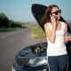 European Business Woman Crashes Car on the Road - VideoHive Item for Sale