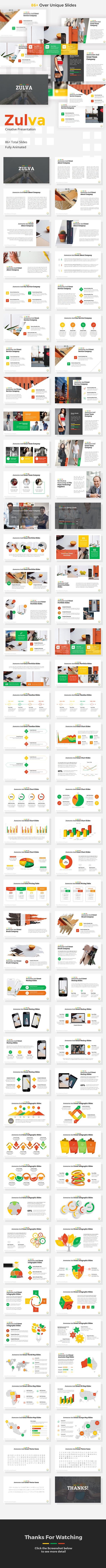 Zulva - Creative Google Slides Template - Google Slides Presentation Templates