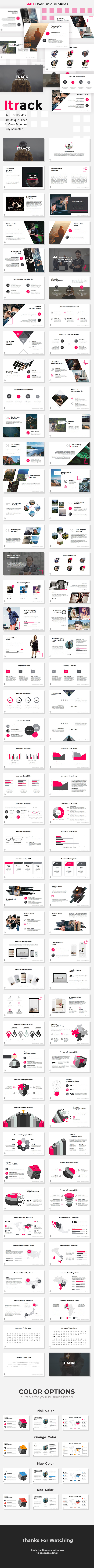 Itrack - StartUp Pitch Deck Keynote Templates - Keynote Templates Presentation Templates