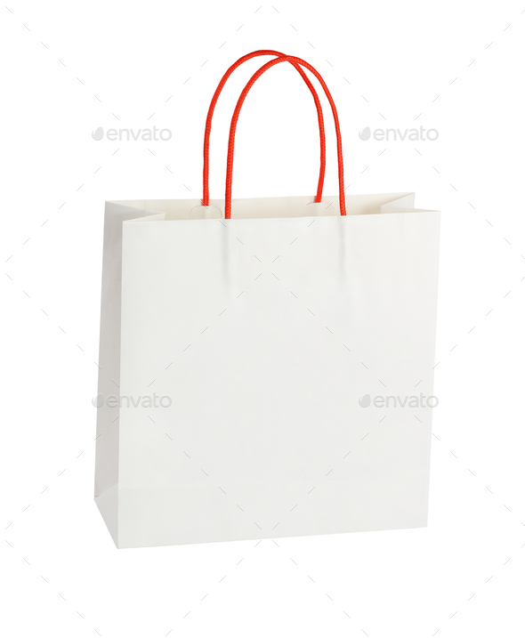 White Paper Bag - Stock Photo - Images