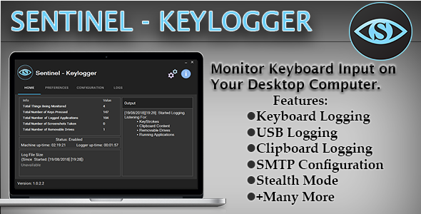(Windows) Sentinel - Keylogger - CodeCanyon Item for Sale
