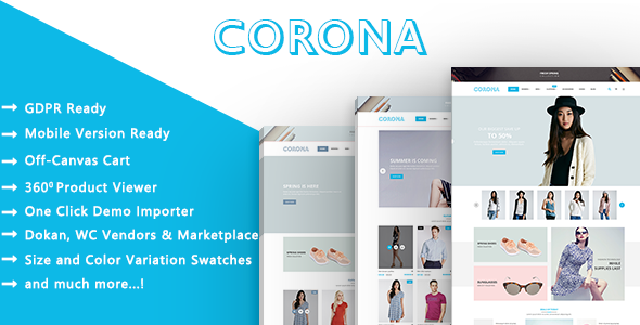 Corona - Fashion Model and Clothes WooCommerce WordPress Theme
