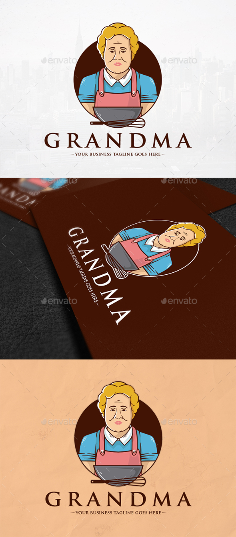 The Grandma Recipes Logo - Humans Logo Templates