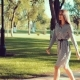 Young Beautiful Girl Walks in the Park at a Rapid Pace - VideoHive Item for Sale
