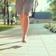 of Walking Girls Legs in the Park - VideoHive Item for Sale
