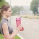 Fitness Woman Drinking Water From Bottle While Sport Training Outdoor - VideoHive Item for Sale