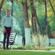 Handsome Young Man Waiting for a Girl on a Date in the Park - VideoHive Item for Sale