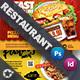 Restaurant Bundle Postcard Templates