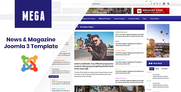 MegaNews - Responsive & Professional News Magazine Joomla Template Free Download | Nulled