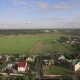 Russian Village Surrounded with Fields, Aerial - VideoHive Item for Sale