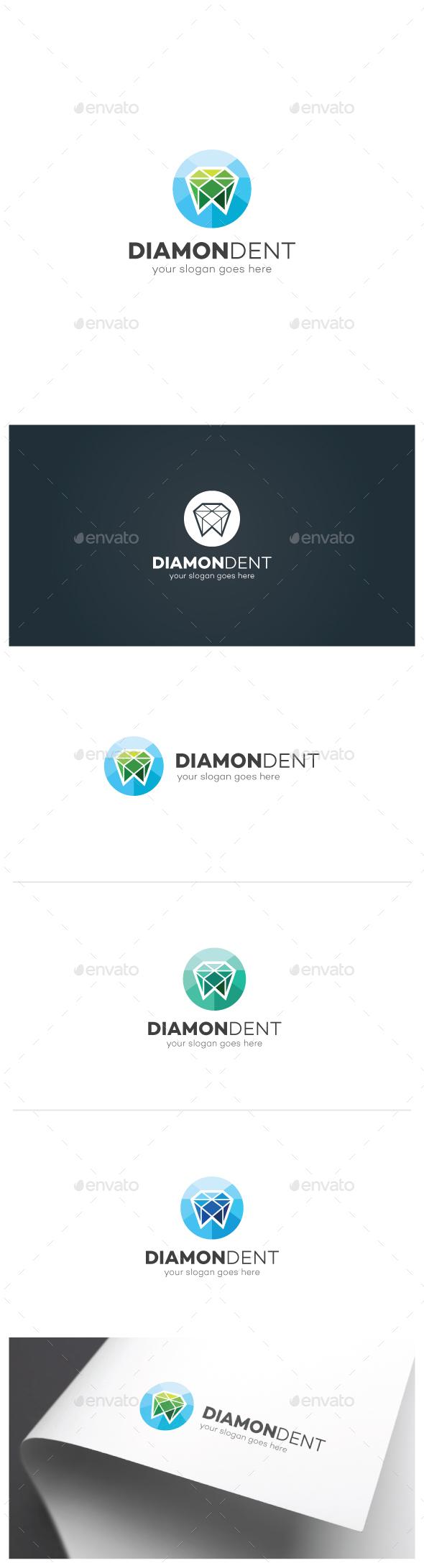 Diamond Tooth Logo - Objects Logo Templates