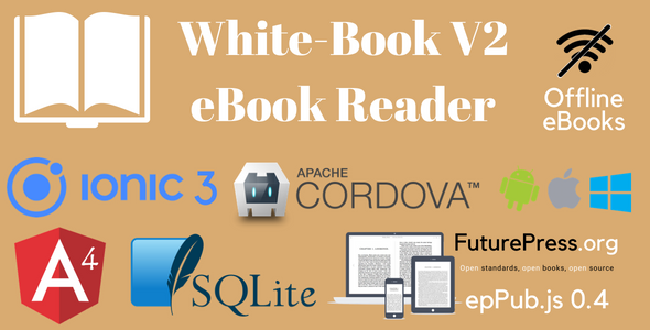 White-Book V2. Ionic 3 eBook Reader Application Template - CodeCanyon Item for Sale