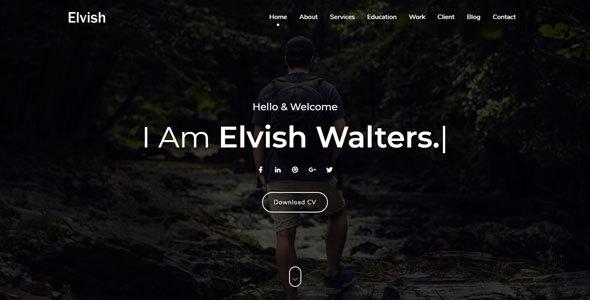 Elvish - Personal Portfolio Template - Personal Site Templates