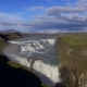 Aerial View of Gullfoss Waterfall Located in the Canyon in Iceland - VideoHive Item for Sale