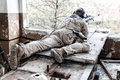 Army sniper in combat readiness on firing position - PhotoDune Item for Sale