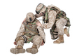 Soldier leaned down over wounded brother in arms - PhotoDune Item for Sale