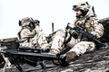 Army marksman sitting on roof observation post - PhotoDune Item for Sale