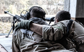 Army sniper team shooting from hidden position - PhotoDune Item for Sale