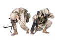 Soldiers crouching after fire in the hole warning - PhotoDune Item for Sale