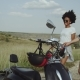 Cute Couple Running and Smiling Towards the Motorbike Having a Good Time, Very in Love - VideoHive Item for Sale