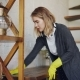 Professional Housekeeper Is Dusting Furniture with Wet Cloth - VideoHive Item for Sale