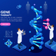 DNA Molecule Helix Blue Background - GraphicRiver Item for Sale