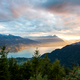 Sunset view of Thun lake in Interlaken from Harder Kulm observat - PhotoDune Item for Sale