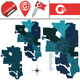 Map of Calgary with Neighborhoods - GraphicRiver Item for Sale