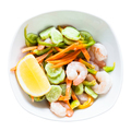 prawn salad from vegetables and shrimps in bowl - PhotoDune Item for Sale
