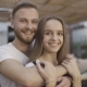 Portrait of the Lovely Couple Look at the Camera and Smile. Bearded Man.  From 100 Fps - VideoHive Item for Sale