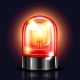 Siren Red Alarm Light