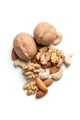 A mixture of nuts on a white background is isolated. - PhotoDune Item for Sale
