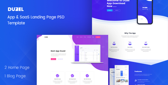 Duzel - Software, App & Saas Landing page Template - Software Technology
