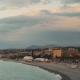 Spring Morning. Sunrise at the Beach of Nice, France. A Seagull Flying - VideoHive Item for Sale