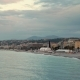 Sunrise and Blue Sea Near the Beach of Nice, France in Spring - VideoHive Item for Sale