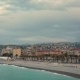 People and Seagulls on the Beach of Nice, France at Sunrise - VideoHive Item for Sale