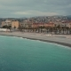 Blue Sea Near the Beach of Nice, France at Sunrise - VideoHive Item for Sale