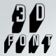 DuskerT 3d Shadow Font