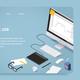 Isometric Freelancer Job Landing Page