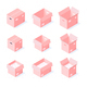 Isometric Cardboard Boxes Collection